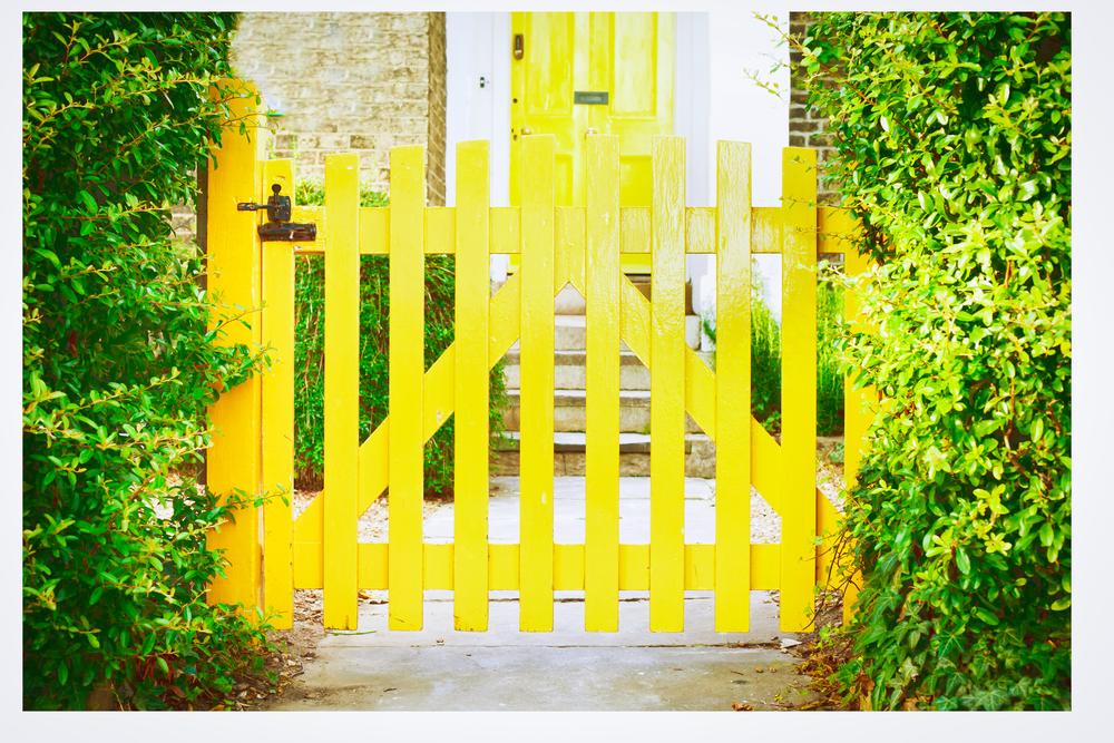 laque écologique jaune portail