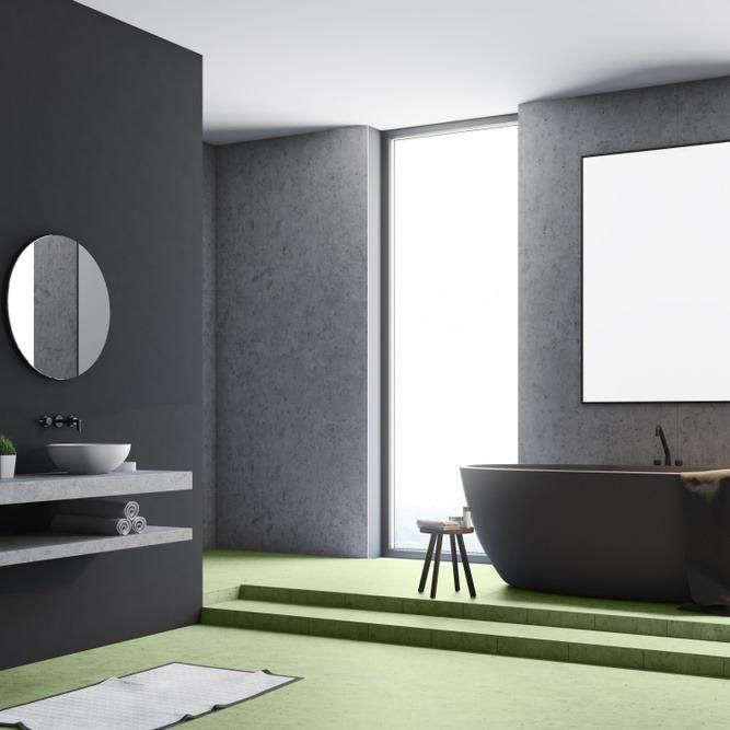 Béton ciré dans une salle de bain : conseils et exemples de réalisations