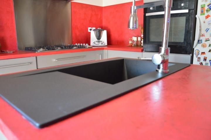 cr dence et plan de travail en b ton cir peypin. Black Bedroom Furniture Sets. Home Design Ideas