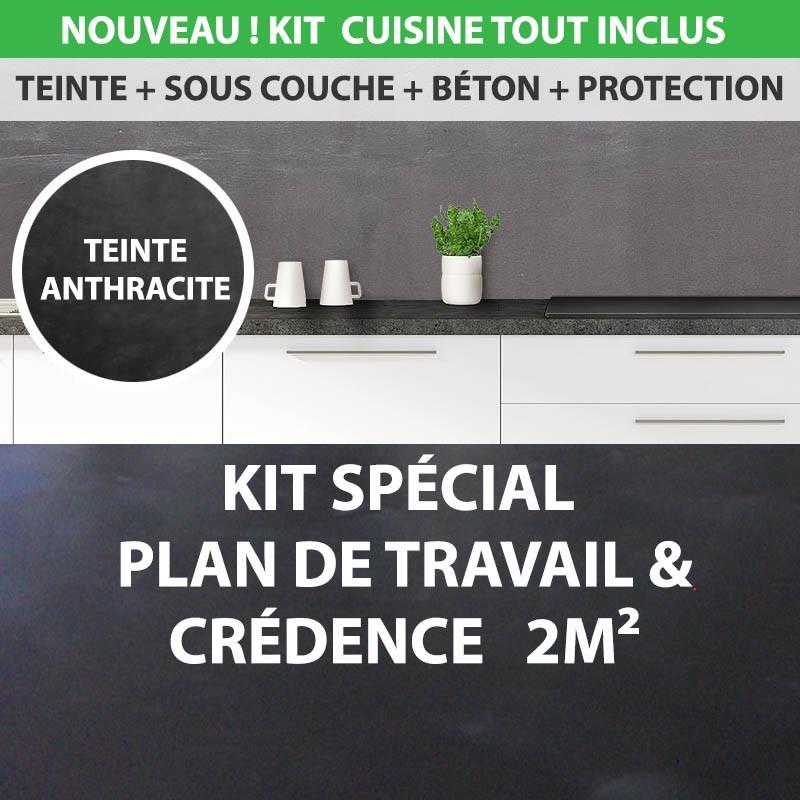 Vernis Plan De Travail Cuisine: Kit Essentiel Béton Ciré Cuisine 2m² Crédence Et Plan De