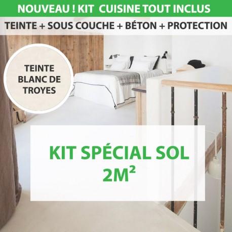 Kit Essentiel béton ciré Sol 2m² Blanc