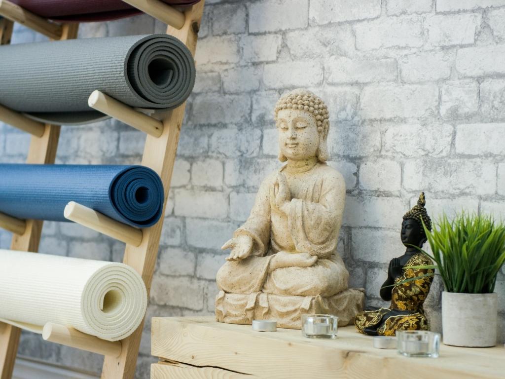 elements décoratifs salle de bains zen