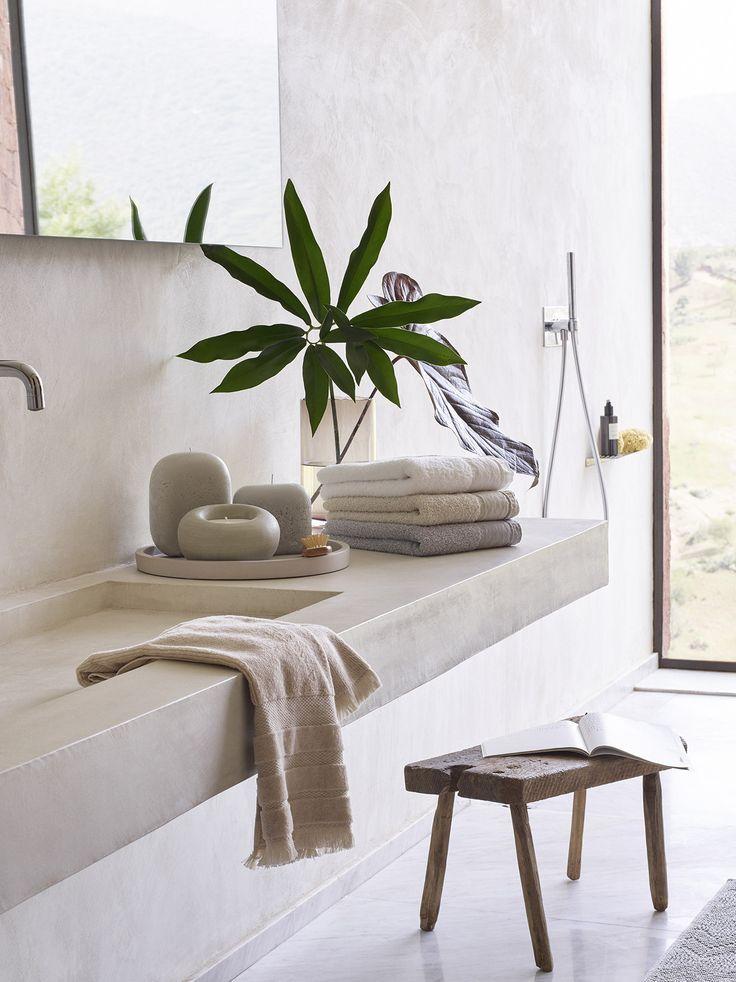 lavabo salle de bain béton ciré