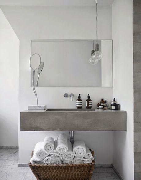 béton ciré clair salle de bains