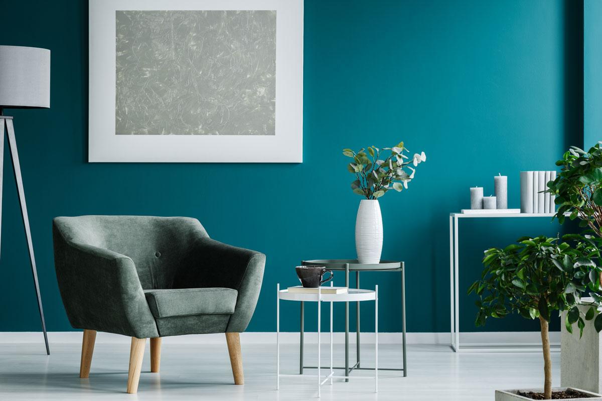 peinture bleu canard chambre