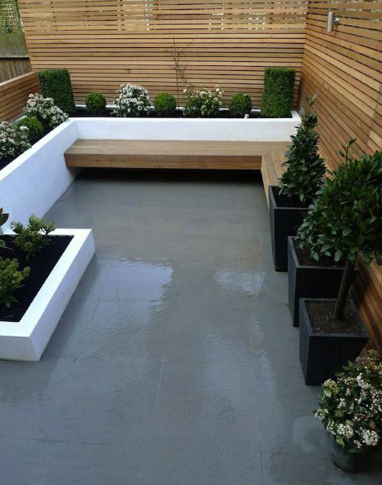 patio béton ciré