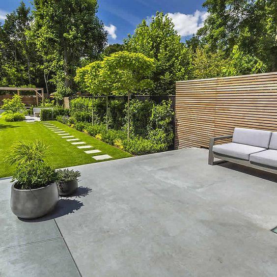 jardin ouvert béton ciré