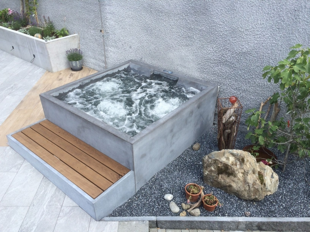 spa exterieur béton ciré