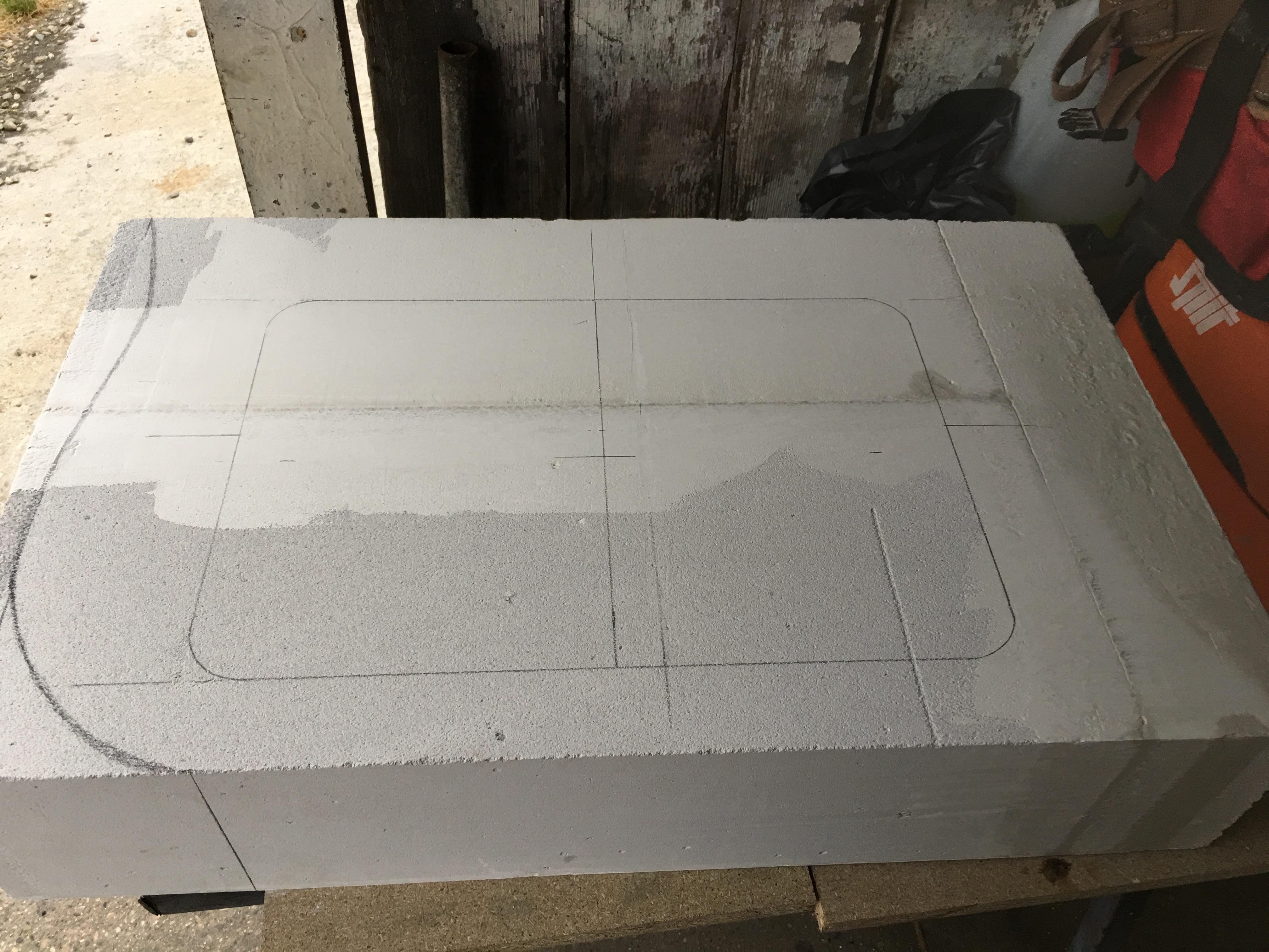 lavabo salle de bain beton ciré avant