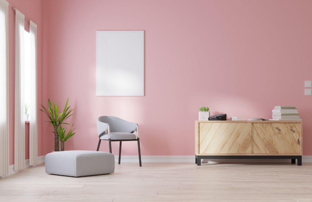 peinture rose blush