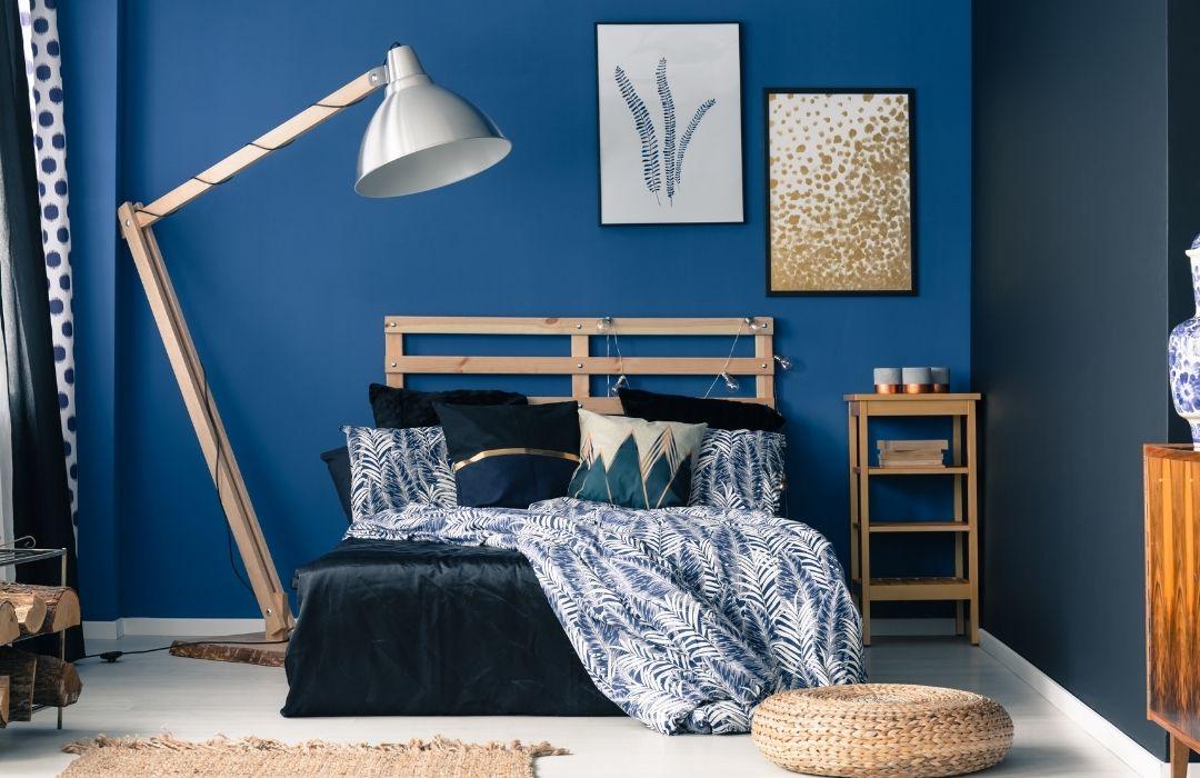 chambre bleue marine adulte