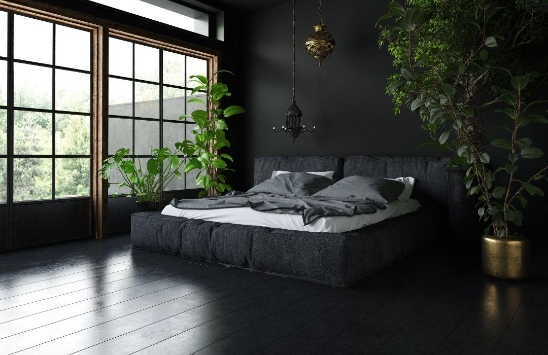 chambre à coucher noire