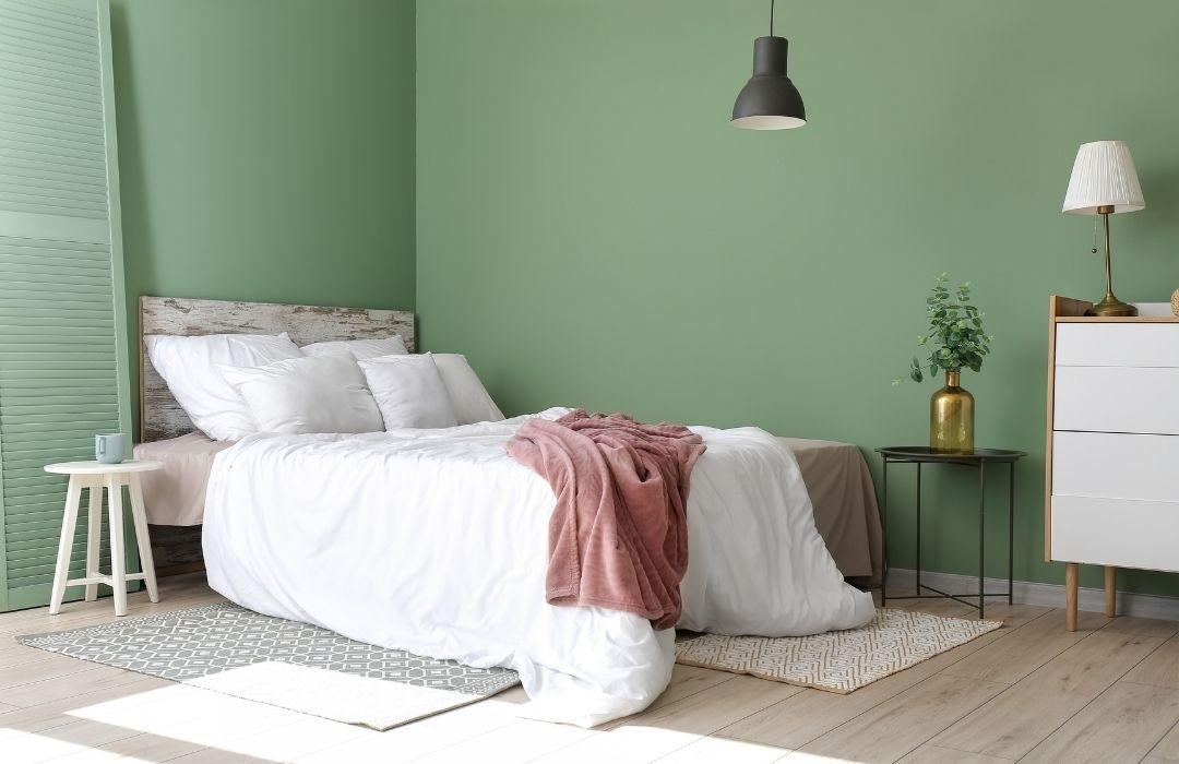 peinture chambre adulte vert pale