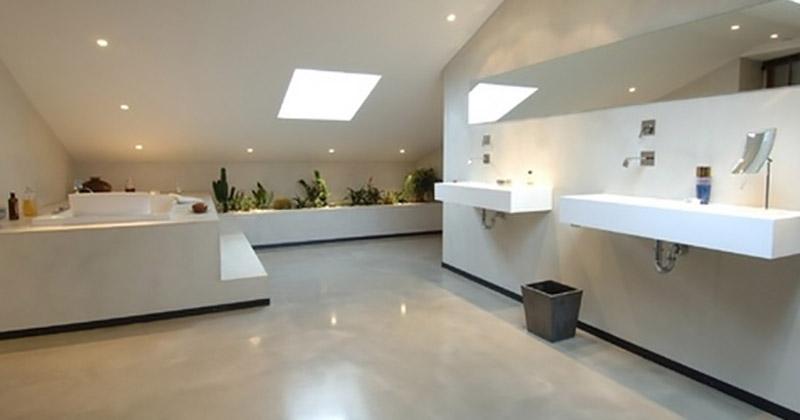 salle d'eau béton ciré
